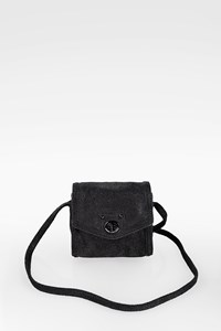 Marc By Marc Jacobs Black Faux Brushed Leather Mini Crossbody Bag