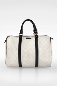 Gucci White GG Coated Canvas Medium Joy Boston Bag