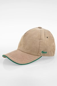 Gucci Beige Logo Baseball Cap with Green Details