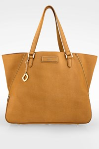 Dkny Beige Bryant Park Saffiano Leather Tote Bag