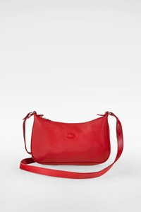 Longchamp Red Leather Crossbody Bag