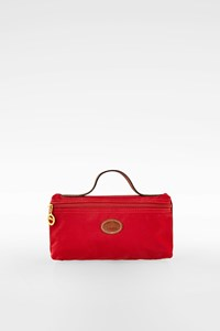 Longchamp Red Nylon Le Pliage Wristlet Bag