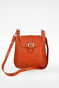 Longchamp Burnt Orange Crossbody Leather Bag
