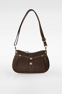 Longchamp Brown Leather Shoulder Bag / Crossbody Bag