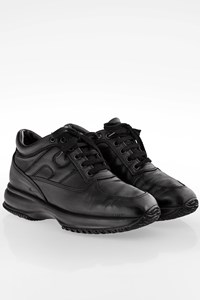 Hogan Black Leather Interactive Sneakers / Size: 36 - Fit: 37