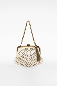 Gucci White Leather Tom Ford Era Evening Bag