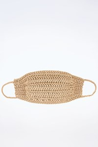 Handmade Brand New Beige Bohemian Crochet Elasticated Reusable Face Mask