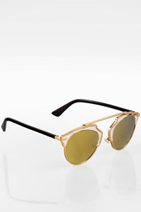 Dior So Real Gold Metal Sunglasses with Acatate Arms