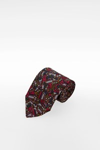 Ungaro Multicoloured Silk Print Tie
