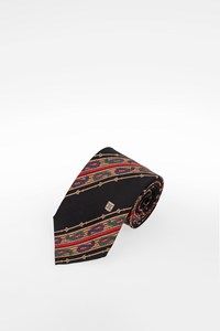 Céline Multicoloured Silk Paisley-Print Tie