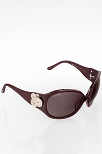 Bulgari 8023B Burgundy Oval Acetate Sunglasses