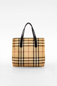 Burberry Beige Nova Check Canvas Mini Handbag