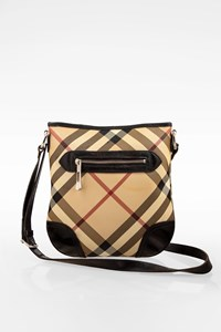 Burberry Beige Dryden Supernova Check Canvas Crossbody Bag