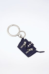 Kenzo Blue Leather Mini Kalifornia Key Ring