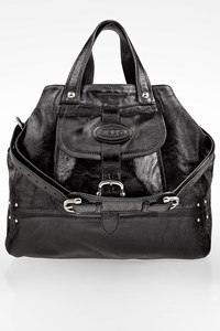 Tod's Black Patent Leather Tote Bag