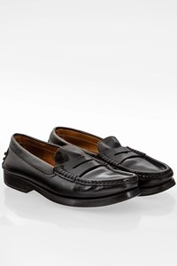 Tod's Black Leather Loafers / Size: 36.5 - Fit: True to size