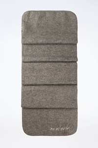 Dkny Grey Felt Synthetic Scarf