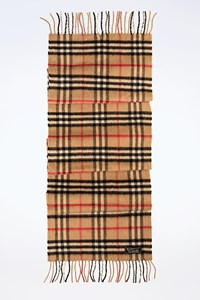 Burberry The Classic Beige Check Print Cashmere Scarf