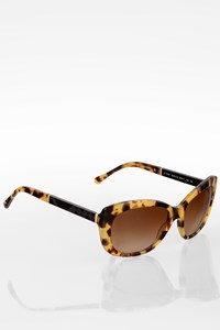 Burberry Beige Tortoise Shell Acetate Sunglasses