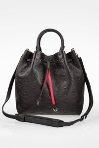 MCM Black Heritage Leather Bucket Bag