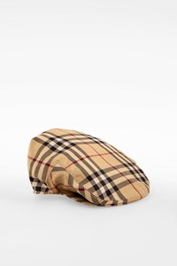 Burberry London Beige Check Printed Flat Cap