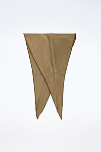 Gucci Chaki Satin-Like Triangular Scarf