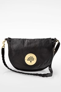 Mulberry Black Leather Daria Crossbody Bag