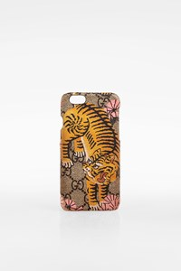 Gucci Multicoloured Tiger-print and GG Logo iPhone 6 Case