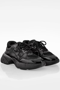 Pinko Black Rubino Sneakers with Patent Leather / Size: 37 - Fit: True to size