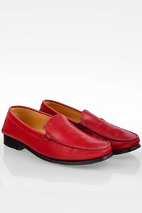 Tod's Red Leather Loafers / Size: 40 - Fit: True to size