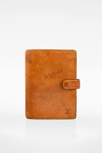 Louis Vuitton Tan Nomade Leather Cover Agenda MM