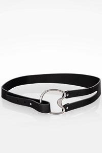 Gucci Black Leather Belt with Anthracite Buckle