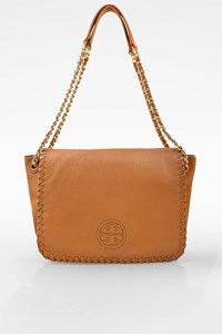 Tory Burch Tan Marion Leather Chain Shoulder Bag