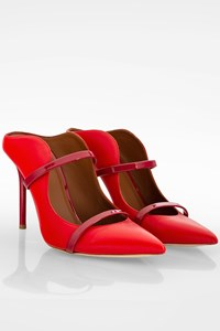 Malone Souliers Red Maureen Leather Mule / Size: 37.5 - Fit: 37