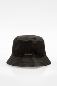 Burberry London Black-Check Print Bucket Double Sided Hat