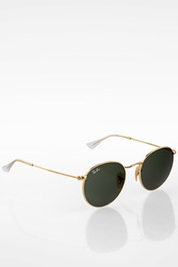 Ray Ban Gold 3447 001 Oval Metallic Sunglasses