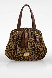 Moschino CheapAndChic Animal Print and Leather Shoulder Bag
