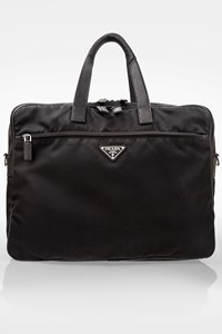 Prada Black Nylon Briefcase / Weekend  Bag