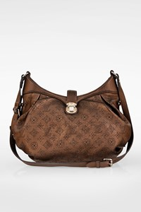 Louis Vuitton Bronze Metallic Rame Monogram Mahina XS Postman Bag