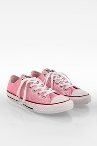 Converse Pink Chuck Taylor Youth Foam Glitter Trainers / Size: 37 - Fit: True to size