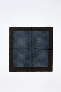 No Brand Black Double-sided Pocket Square with Print