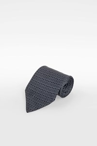 Hermès Blue-Black Silk Tie with Diamond Print