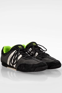 Y-3 Adidas by Yohji Yamamoto Black-Grey Men's Boxing Sneakers / Size: 43 1/3 - Fit: True to size