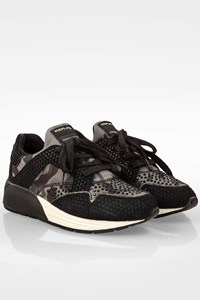 Replay Black-Militaire Istrable Sneakers with Strass / Size: 37 - Fit: 38