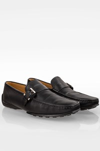 Tod's Black Leather Men's Loafers with Buckle / Size: 41 (7) - Fit: True to size
