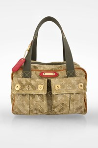 Louis Vuitton Light Olive Green Monogramouflage Denim Limited Edition Jasmine Tote Bag