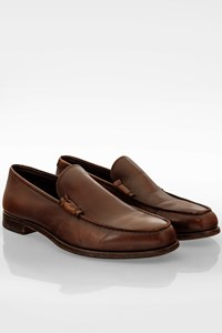 Prada Brown Leather Loafers / Size: 10 (44 1/3) - Fit: True to size