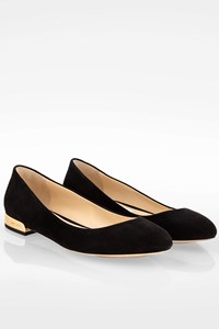 Jimmy Choo Black Jessie Suede Ballet Flats / Size: 39 - Fit: True to size