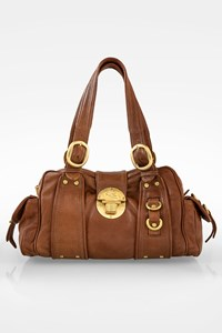 Etro Brown Leather Shoulder Bag