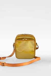 Louis Vuitton Gold Monogram Vernis Wooster Cross Body Bag